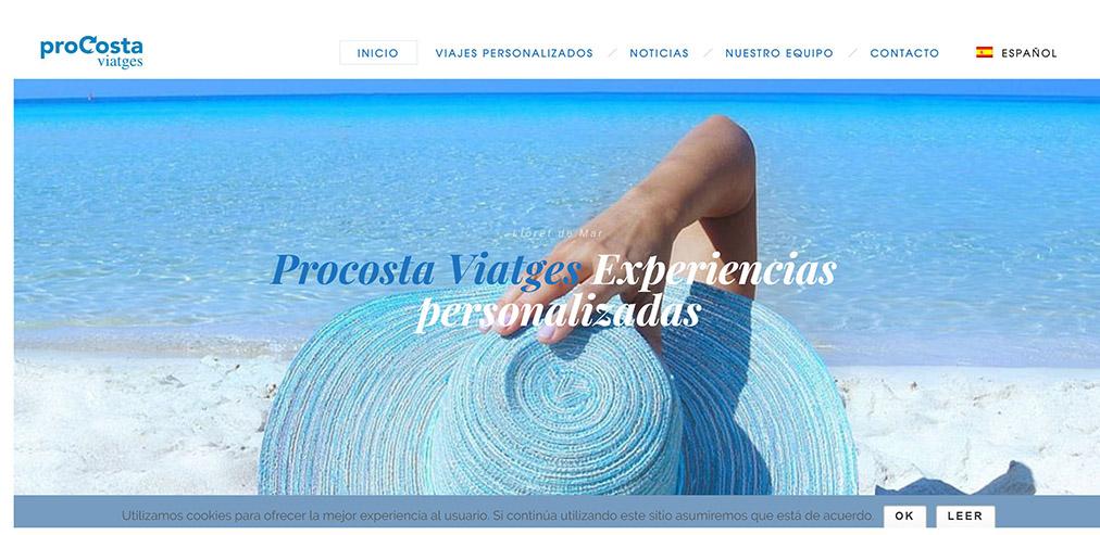 Procosta Viajes- Decir todo con Diseño